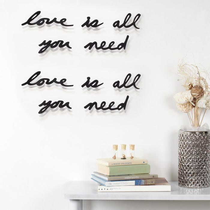 фотография Надпись декоративная love is all you need настенная черная  - 2100 р.