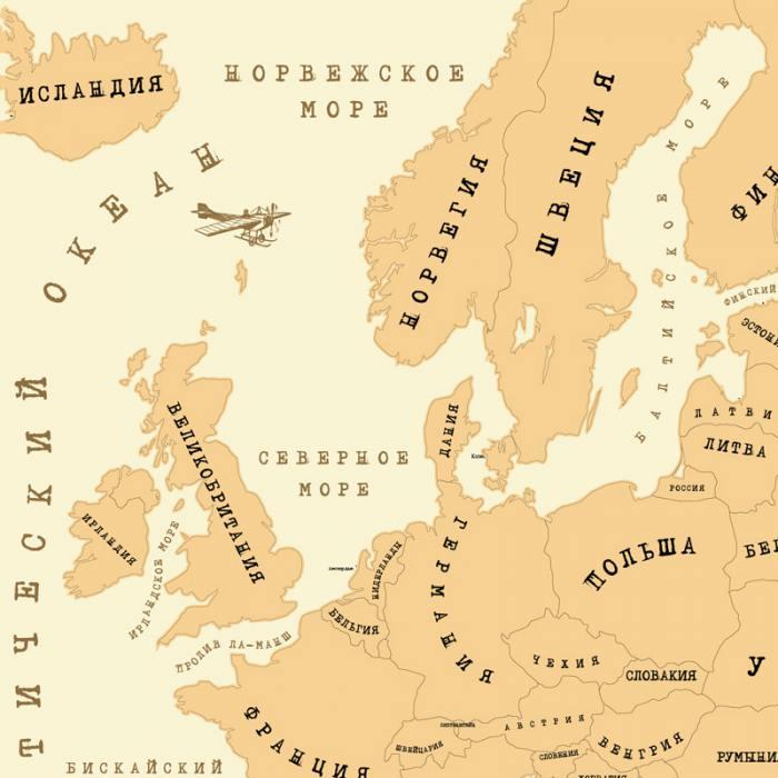фотография Карта «галопом по европам»  - 900 р.