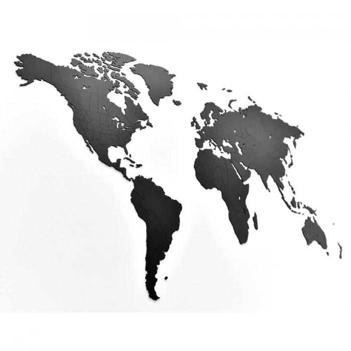 фотография Пазл «карта мира» черная 150х90 см  - 5490 р.