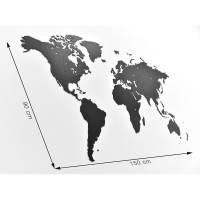 фото Пазл «карта мира» черная 150х90 см