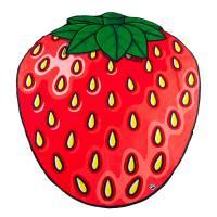 фото Покрывало пляжное strawberry
