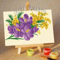 фото Картина по номерам Hobbart «Весенний букет»