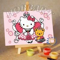 фото Картина по номерам Hobbart «Hello Kitty. Китти-принцесса»