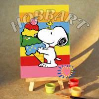 фото Картина по номерам Hobbart «Снупи. Радужный десерт»