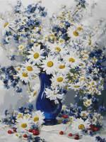 фото Картина по номерам Белоснежка «Любимые цветы»