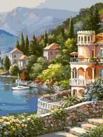 фото Картина по номерам Белоснежка «Вилла на берегу озера»