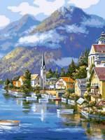 фото Картина по номерам Белоснежка «Хальштадт. Австрия»