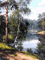фото Картина по номерам Белоснежка «Моя Карелия»