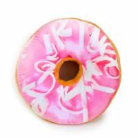 фото Подушка-пончик с нежно-розовой глазурью 35 см