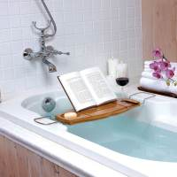 фото Полка для ванной aquala дерево