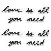 фото Надпись декоративная love is all you need настенная черная
