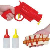 фото Диспенсер для кетчупа и горчицы condiment gun