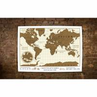 фото Стирающаяся карта мира Scratch-Map
