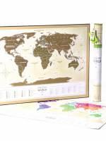 фото Скретч-карта мира Travel Map Gold