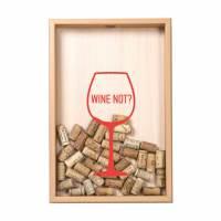 фото Копилка для винных пробок «Wine not?», бук