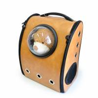 фото Рюкзак с иллюминатором, коричневый