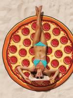 фото Покрывало пляжное pizza