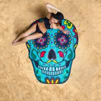 фото Покрывало пляжное sugar skull