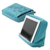 фото Подушка-подставка с карманом для планшета hitech голубая/черная