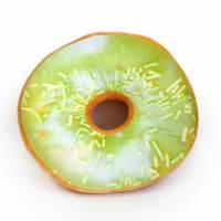 фото Подушка-пончик в зеленой глазури 35 см