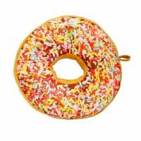 фото Подушка-пончик с разноцветной крошкой 35 см