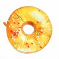 фото Подушка-пончик в желтой глазури 35 см