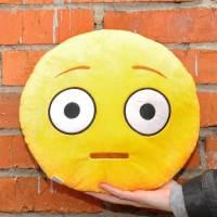 фото Подушка Emoji «Flushed Face Emoji» 27 см ярко-желтая