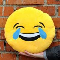 фото Подушка Emoji «LOL Emoji» 27 см ярко-жёлтая