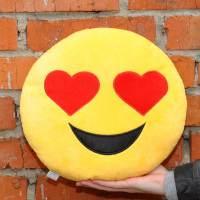 фото Подушка Emoji Heart Eyes Emoji 27 см ярко-желтая