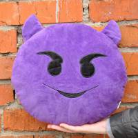 фото Подушка Emoji «Devil Horns Emoji» 27 см вид 2