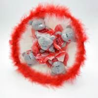 фото Букет из игрушек медведь Тедди