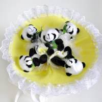 фото Букет из игрушек желтые панды