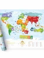 фото Интерактивная карта мира Travel Map «Kids Sights»