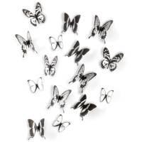 фото Декор для стен Chrysalis 15 элементов черный/прозрачный