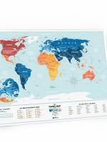 фото Скретч карта мира Travel Map Holiday LAGOON World