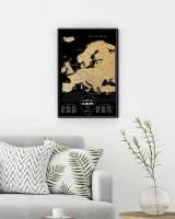 фото Скретч Карта Европы Silver