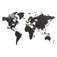 фото Пазл «Карта мира» черная 150х90 см NEW