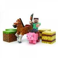 фото Набор фигурок Minecraft Saddle Pack с аксессуарами 8 см
