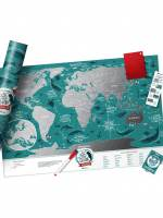 фото Скретч Карта Мира Travel Map Marine