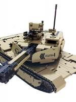 фото Радиоуправляемый конструктор QiHui танк, стреляющий пульками