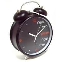 фото Часы Будильник Гигант черный Английский