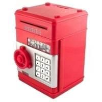 фото Копилка сейф пластиковая большая Красная