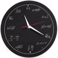 фото Часы Античасы Забавная Математика Стеклянные