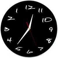 фото Часы АнтиЧасы Классика черная Стеклянные