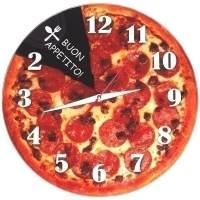 фото Часы АнтиЧасы Пицца Стеклянные