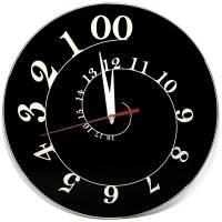 фото Часы АнтиЧасы Спираль черная стеклянные