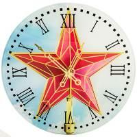 фото Часы Кремлевская Звезда Стеклянные