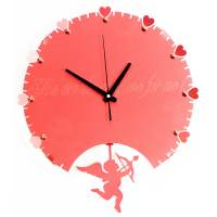 фото Часы Купидон металл