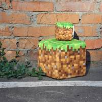 фото Подушка «Блок земли» Minecraft 20x20 см