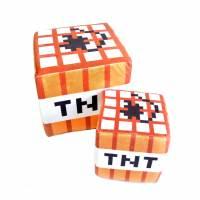 фото Подушка Блок TNT Minecraft 30х30 см